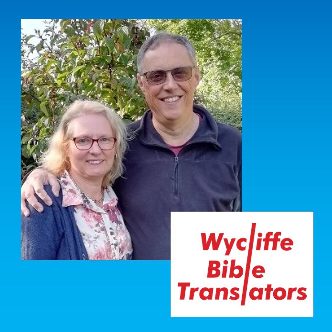 *Wycliffe Bible Translators*Wycliffe Bible Translators exists to enable all peoples to engage with the Bible in a language that speaks to their heart. It believes that the Bible is the inspired word of God and it is for all people everywhere speaking all languages. Having completed a 20 year project translating the Bible into a language spoken by more than 6 million people in Central Asia, David & Georgina are now involved in training, mentoring and advising Bible translators around the world. Find out more at wycliffe.org.uk